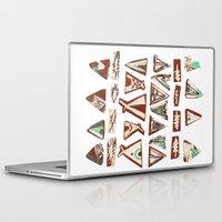 pee wee Laptop & iPad Skins featuring Tee-Pee by Colette Reders
