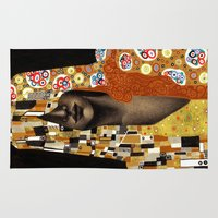 klimt Area & Throw Rugs featuring Klimt Me by Estúdio Marte