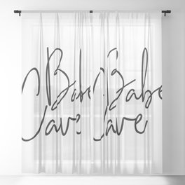 Babe Cave Sheer Curtain
