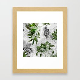 Palms & Shells - Multimedia Framed Art Print