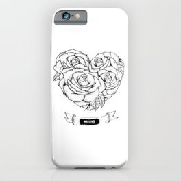 """it was written in blood"" - bmth iPhone Case"