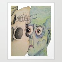 The Face Of Death Art Print
