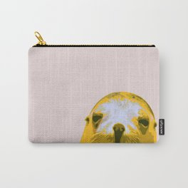 SEAL, HAPPY SEAL, SEAL FACE, Larhe pop art, curious seal, pop art animal, little seal, baby seal Carry-All Pouch