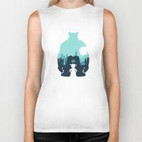 monsters inc Biker Tanks featuring Welcome To Monsters, Inc. by filiskun
