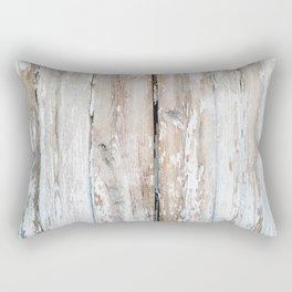 Old wooden fence texture Rectangular Pillow
