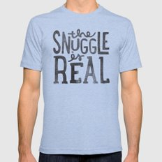 the snuggle is real Mens Fitted Tee Tri-Blue MEDIUM