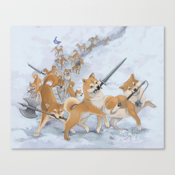 Cry Heckin' and Let Slip the Doges of War Leinwanddruck