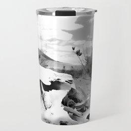 Desert Skull in Black and White Photography Travel Mug