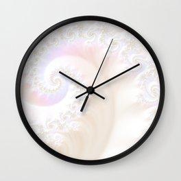Ocean Treasure -- Mother of Pearls Mandelbrot Wall Clock