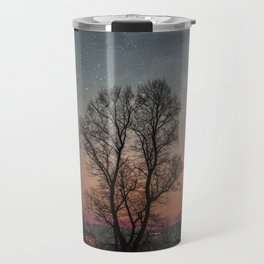 Starry Norwegian winter night Travel Mug