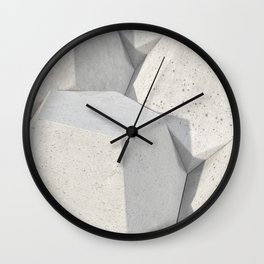 Pattern of concret hexagonal elements Wall Clock