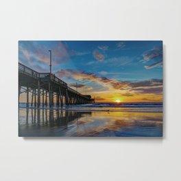December Colors at Newport Pier. Metal Print