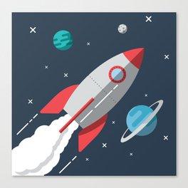 Little Astronaut Rocket Adventure Canvas Print