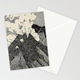 Naturalist Volcano Stationery Cards