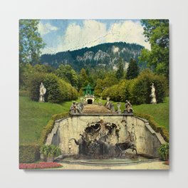 Vintage garden III Metal Print