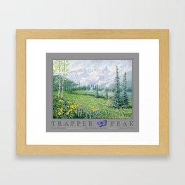 Trapper Peak Framed Art Print