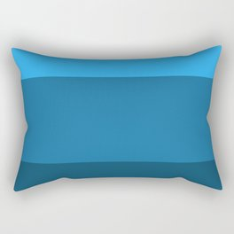 Blue Gradient Pattern Rectangular Pillow