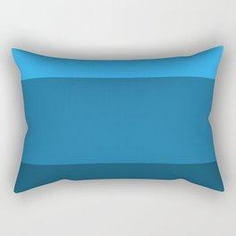 Blue Gradient Pattern Rectangular Pillow