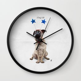 A Pug's Life Wall Clock
