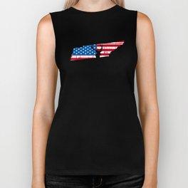 American Flag Tennessee Deer Hunting Patriotic T-Shirt Biker Tank