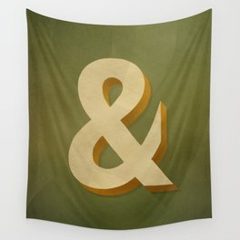 Antique Olive Bold Ampersand Wall Tapestry