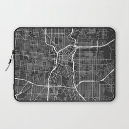 San Antonio Map, USA - Gray Laptop Sleeve