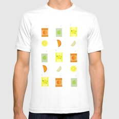 Juice Pattern White Mens Fitted Tee SMALL