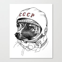 Laika, space traveler Canvas Print