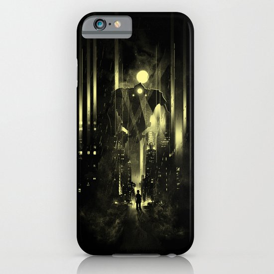 Giant robot and the kid iPhone & iPod Case