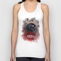 godzilla Tank Tops featuring Godzilla by Denda Reloaded