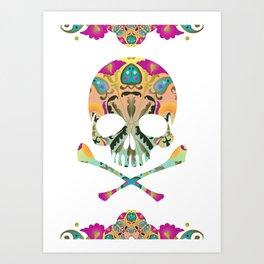 Decorative Skull Art Print