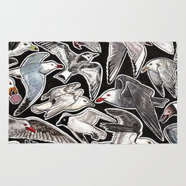 Sea gulls for bird lovers Rug
