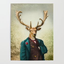 Lord Staghorne in the wood Poster