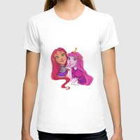 princess bubblegum T-shirts featuring Starfire and Princess Bubblegum by Angie Nasca