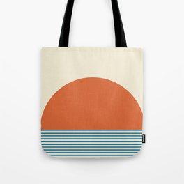Sunrise / Sunset - Orange & Blue Tote Bag