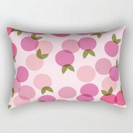 Fruit Pattern - Pink Rectangular Pillow