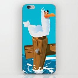 Cute Seagull Cartoon. iPhone Skin