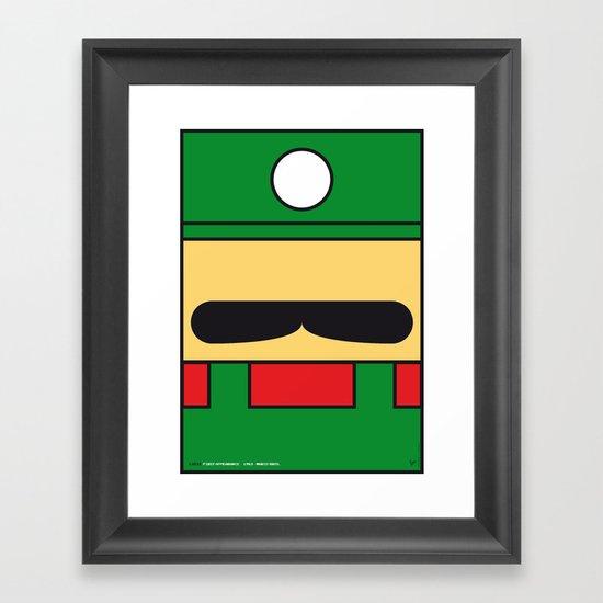 MY LUIGI MARIO BROS MINIMAL POSTER Framed Art Print