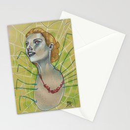 SPIDER WITH NECKLACE Stationery Cards