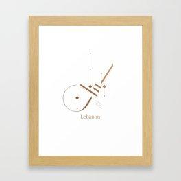 Modern Arabic Calligraphy - Lebanon Framed Art Print