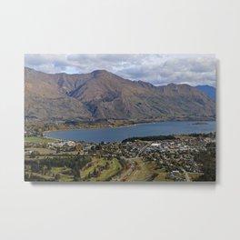 Mountains by the Lake Metal Print
