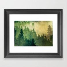 Fog Forest Trees - Nature Hike Framed Art Print