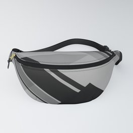 Geometrical Conception - Black & Gray Color Fanny Pack