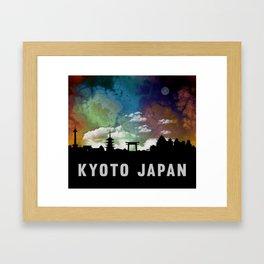 Kyoto Japan Skyline Cityscape Framed Art Print