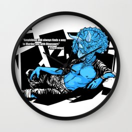 Amphibian DNA - Triceatops Wall Clock