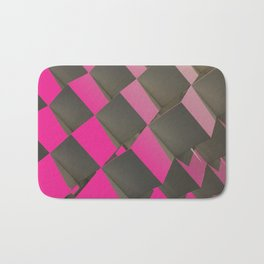 Magenta Chess Bath Mat