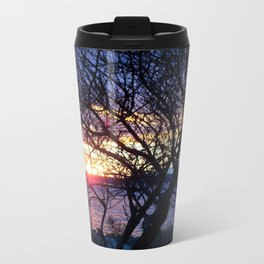 Sunset Through The Plum Bush Travel Mug