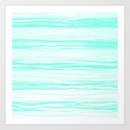 390 2 Crinkled Turquoise Art Print
