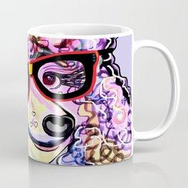 Hipster Poodle Coffee Mug