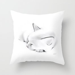 Nap Cat Throw Pillow